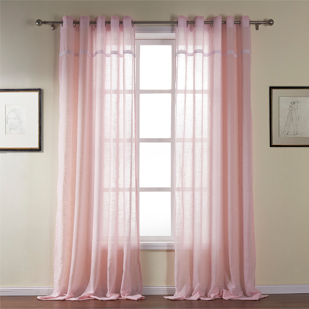 ... Grommet Top Custom Made Curtains Pink-in Curtains from Home & Garden