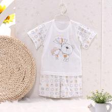 The Baby Bamboo Fiber Underwear Short Suit Baby Clothes Thin Summer Children's Pajamas(China (Mainland))