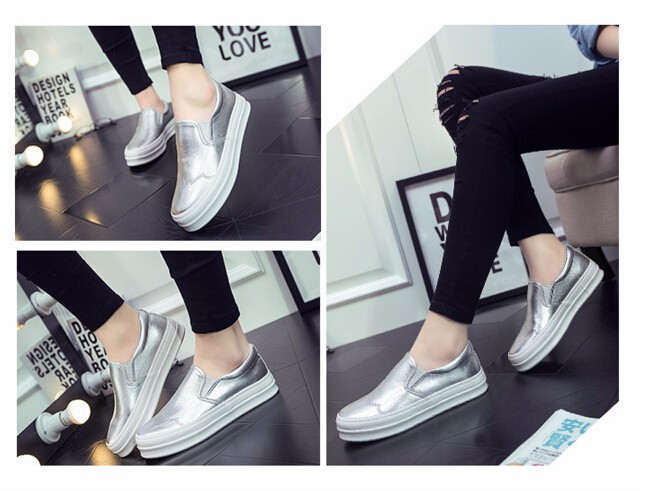 footwear Casual Flat Shoes Woman 2016 Spring Autumn Women Loafers Round Toe Women Shoes Loafers zapatos mujer z165