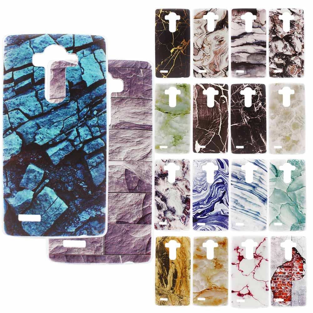 For LG G4 Stone Granite Marble Texture Pattern PC Case For LG G5 Ultra Thin Back Cover Protective Case +Free Film(China (Mainland))