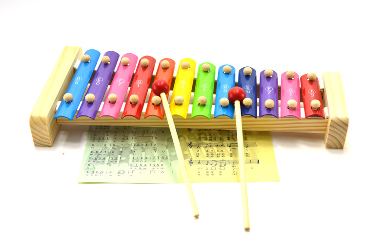Musical Educational Toys : Free shipping wooden toys aluminium xylophone