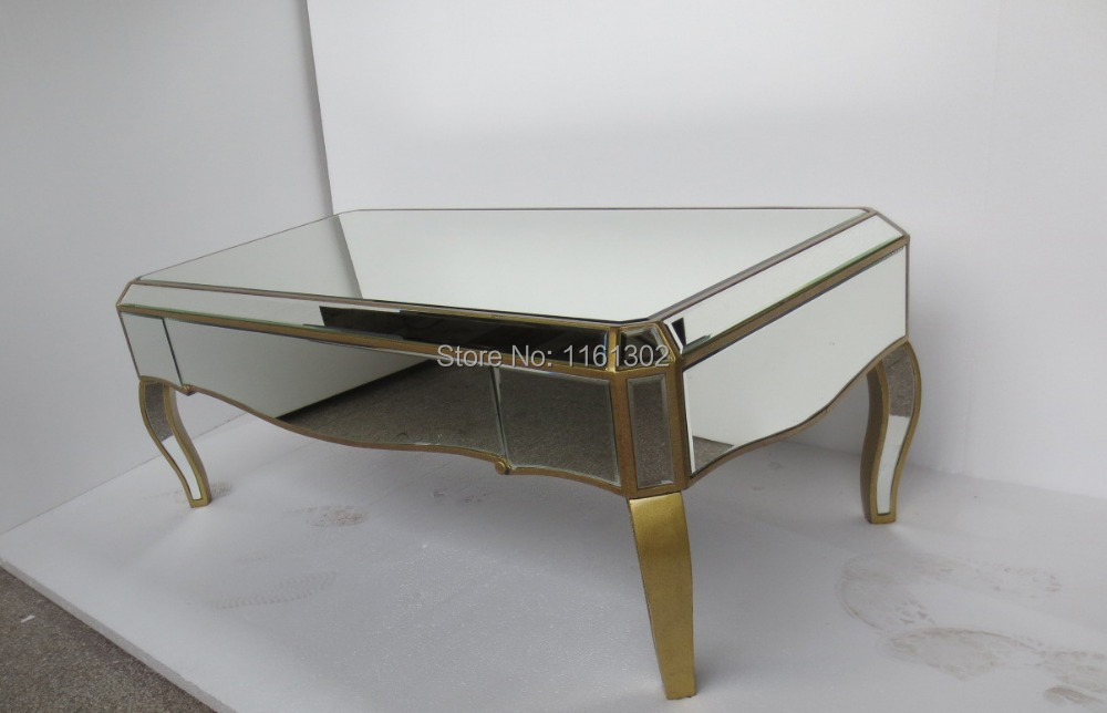 Mirrored Living Room Furniture Coffee Table In Glass Tables From Furniture On