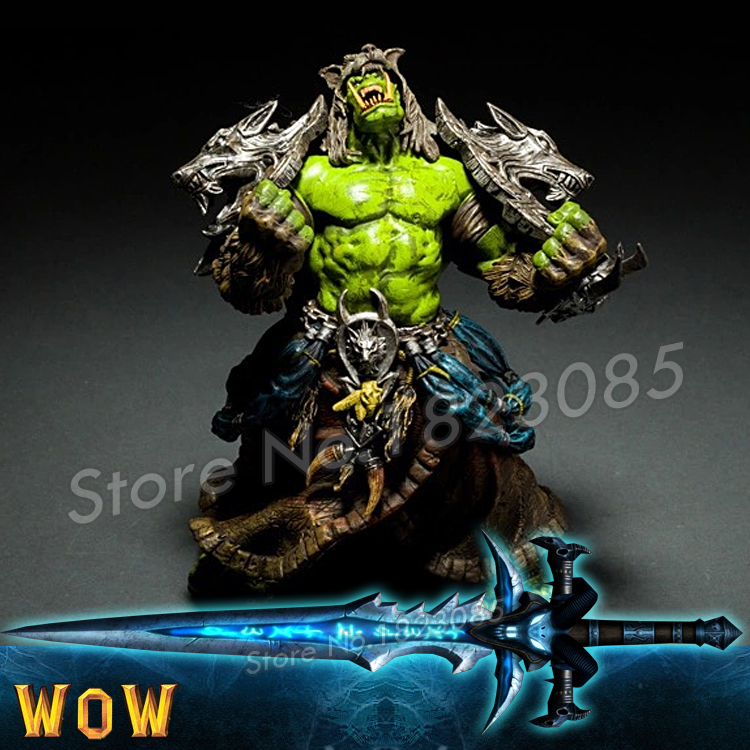 Savage ORC Shaman Shamman Thrall 2016 New PVC WOW Model Movie Video Games Toy Online Game Action Figures Gift with Original box(China (Mainland))