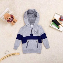 Retail New Brand Baby&Boy's autumn sports cotton fashion Sweatshirts/Children 's long sleeve Hooded Coats clothes+free shipp(China (Mainland))