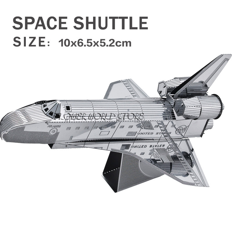 New creative 3D puzzles 3D metal model Space shuttle Jigsaws Creative DIY Adult/Children gifts toys Space plane And many(China (Mainland))