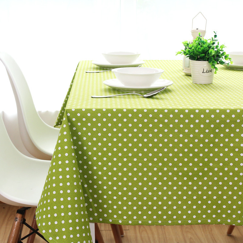 Rustic green big jade dining table cloth thickening canvas cotton tablecloth custom retangle square and round table cover(China (Mainland))