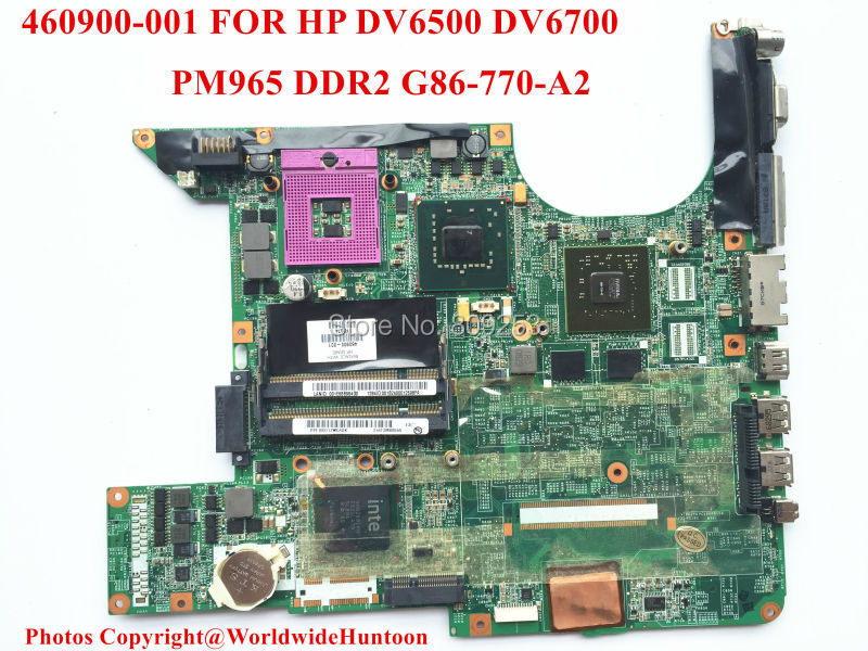 Original laptop motherboard for HP DV6500 DV6700 460900-001 PGA478 DDR2 G86-730-A2 Fully tested and Free shipping(China (Mainland))