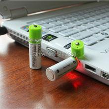 2PCS Portable AA 1450mah rechargeable battery 1.2v USB Rechargeable batteries LED Indicator  AA Rechargable Battery Baterias