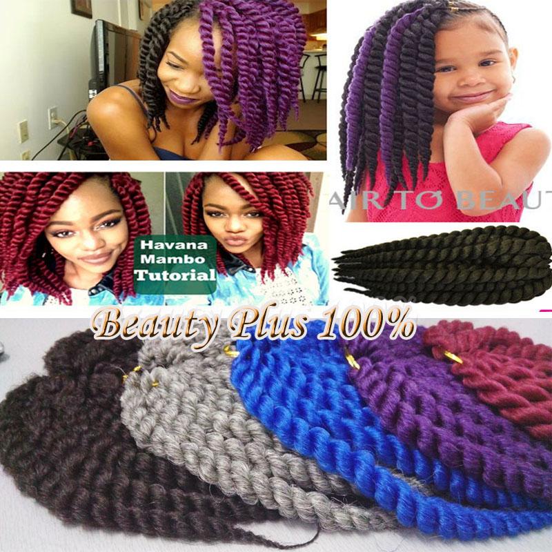 Braid Hair Extension Havana Mambo Twist Kanekalon Synthetic Crochet Braid Hair Afro Twist 12 14 for African American woman<br><br>Aliexpress