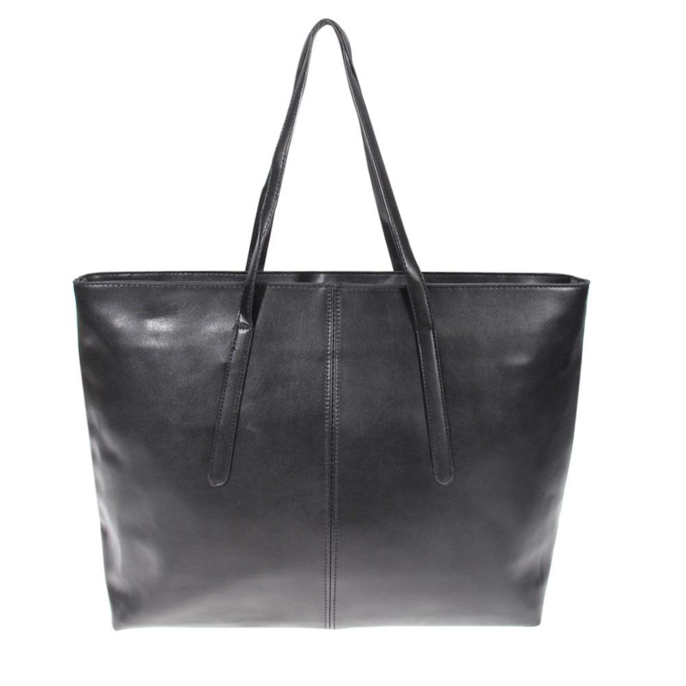 New Arrival Women's Handbag Bag Shoulder Bag Japanned Leather PU Leather Shopping Tote Large Capacity Black Handbags(China (Mainland))