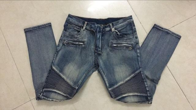 Nwt BP мужская мода впп байкер тонкие колен стретч старая школа промывают синие джинсы ...