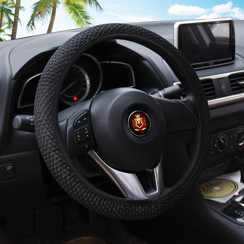 Бесплатно shippping мило мультфильм автомобиль руль покрытие быть в общем пользовании дышащий окружающей для lady38CM автомобильного комплекта