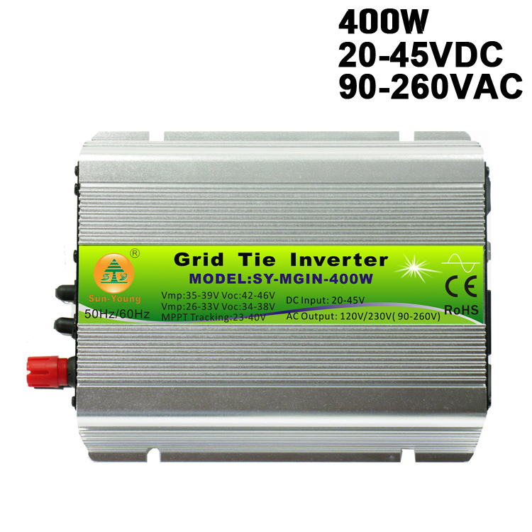 20-45V Wide Input 90-260V Full AC Output Indoor Type Mppt Function 600W On Grid Tie Inverter for 24V/36V PV Panels System(China (Mainland))