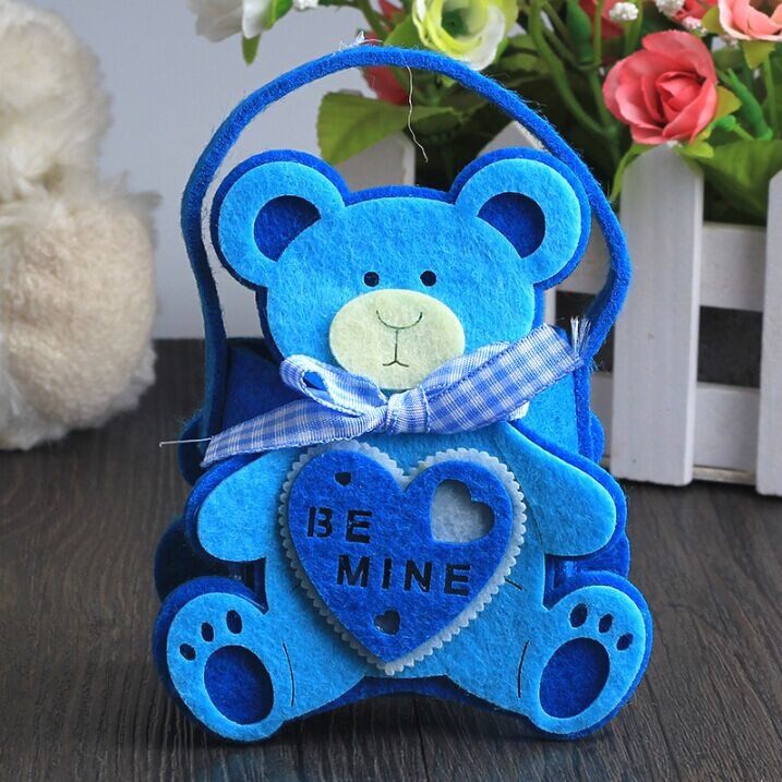 10pcs Baby bear Candy Box Baby Shower Favors Baptism Nursery Party Favours Christening Gift Box Birthday Party Wedding Favors(China (Mainland))
