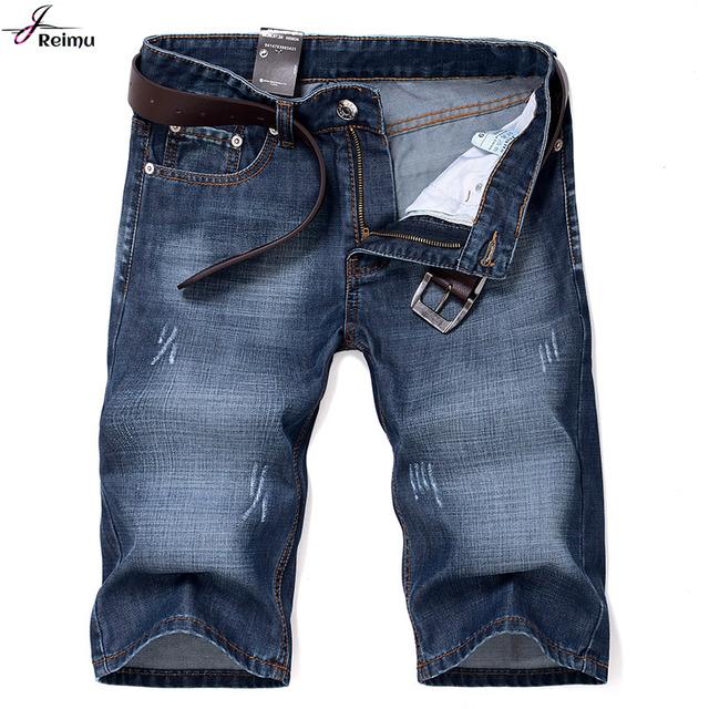 2016 новый летний известный бренд мужской джинсовые шорты высокое качество мужчин ...