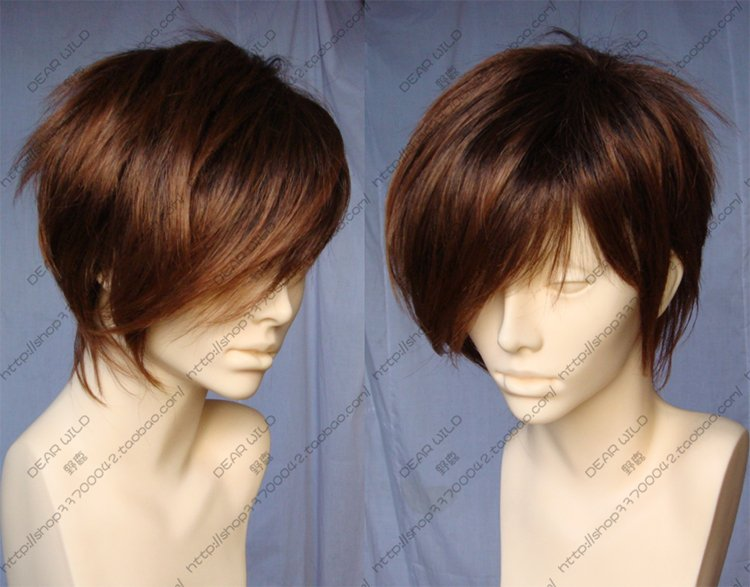Fashion Animation MEIKO COS WIG New Short Light Brown Cosplay Wigs Nice(China (Mainland))