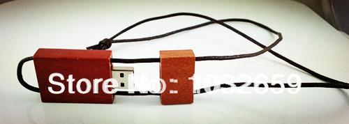 Wooden Custom Usb Flash Disk/ Drive / Memory Stick w/ Lanyard 1GB 2GB 4GB 8GB 16GB 32GB available(China (Mainland))