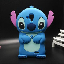 Silicone Cover Case For Lenovo A536 3D Cute Cartoon Stitch Phone Cases