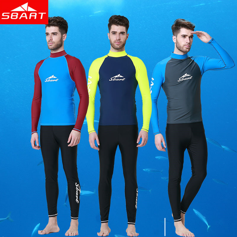 SBART Long Sleeve Rashguard Swim Shirts Men 2015 Summer Anti UV Quick Dry Rash Guard Surf Shirt UPF 50+ Scuba Diving Suit TShirt(China (Mainland))