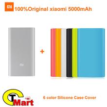 Original Xiaomi Power Bank 5000mAh Ultra Slim Powerbank 5000 External Battery Charger for Xiaomi Mi4 Mi3 Redmi iPhone 6 5s iPad