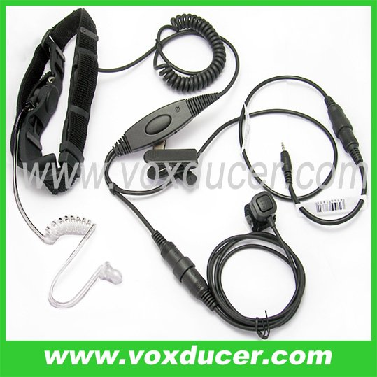 Detachable throat mic with Mini-din Plug for Cobra transceiver PR240 PR245 PR350 PR375 PR550(China (Mainland))
