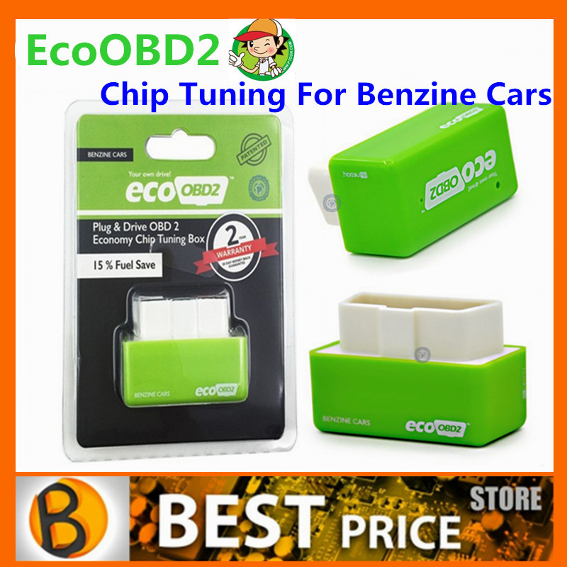 10pcs/lot Free Ship EcoOBD2 Economy Chip Tuning Box Lower Fuel and Lower Emission 15% Fuel Save Plug and Drive for Benzine Cars(China (Mainland))