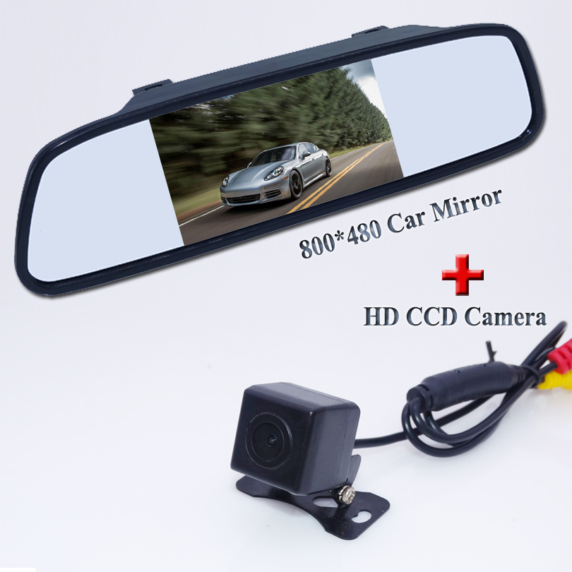 """100% hot selling 4.3"""" Car Reverse Camera Car Mirror TFT LCD Color +170 degree HD car review camera For different kinds of cars(China (Mainland))"""