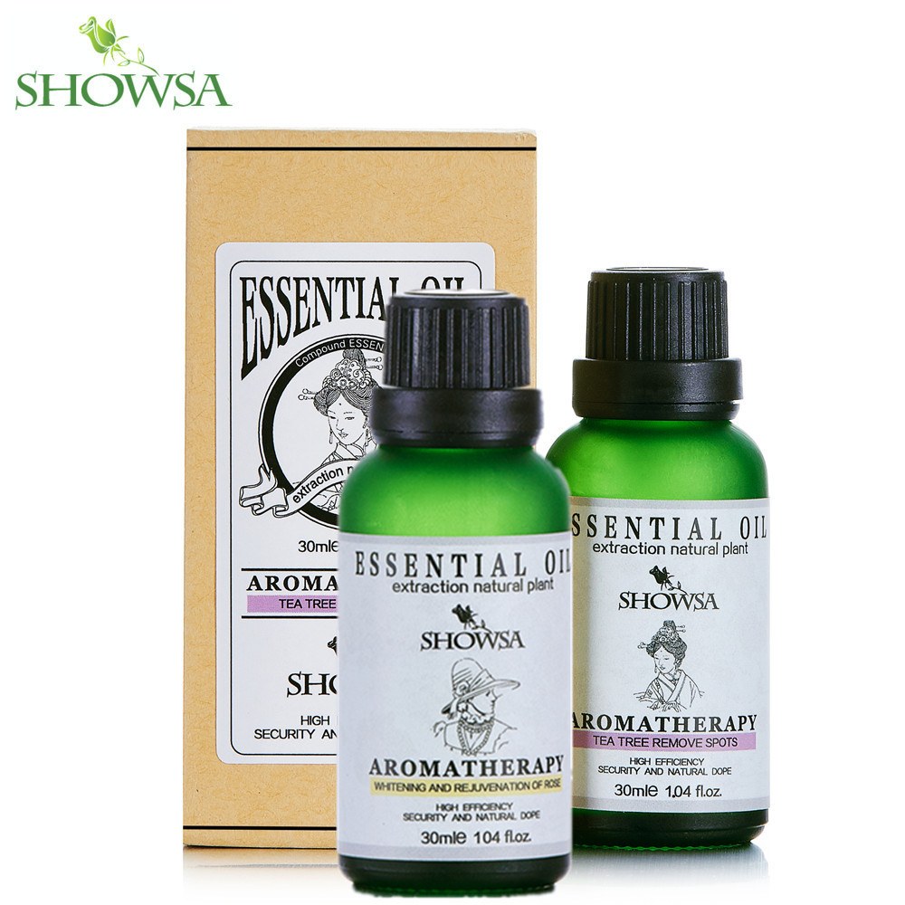 Whitening &amp; rejuvenation of rose essential oil + Tea Tree Remove Spots Oils Relieve Scar Blackhead Whelk Essential Massage Oils<br><br>Aliexpress
