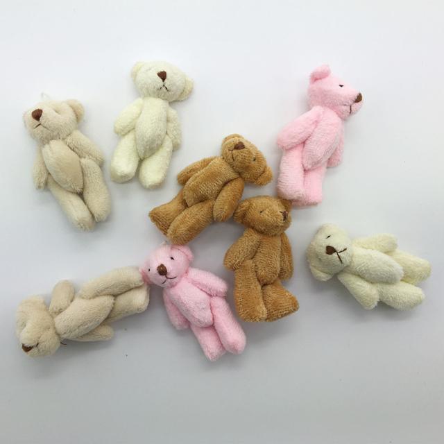 10 шт./лот 6 см супер милый мини-суставные боути медведь с коротким плюшевые игрушки детей чучело куклы свадебный подарок для детей BL1164