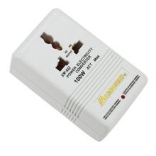 Blanco más nuevo Profesional 110/120 V a 220/240 V Step Up/Down de Doble Convertidor de Voltaje Del Transformador Interruptor de Adaptador de viaje