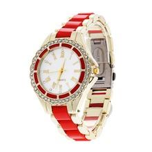 2016 New Casual Watch Geneva Quartz Watches Women Analog Rhinestone Crystal WristWatch Relogio Reloj