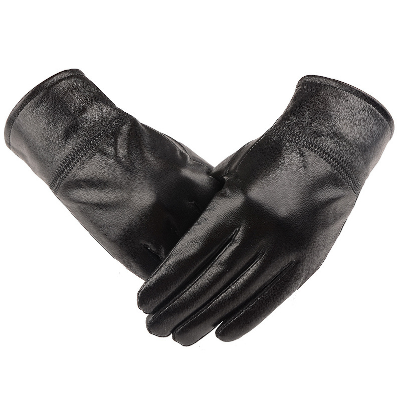 Women's Gloves ,Genuine Leather,Cotton,Adult,Genuine Sheepskin Gloves, Thick Velvet,Spandex,Leather Gloves Men, Free Shipping(China (Mainland))