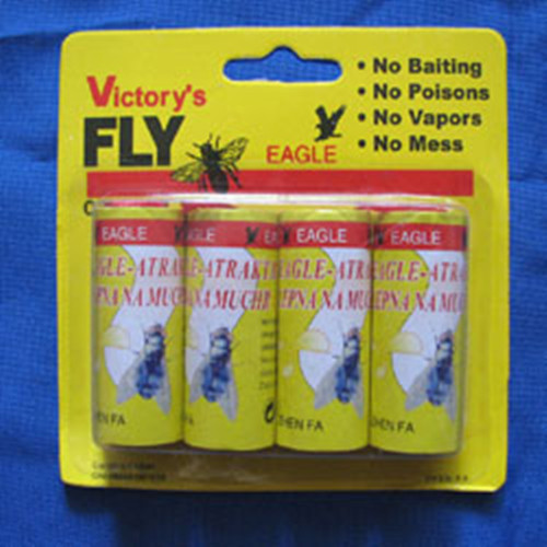 High Quality 4X Fly Sticky Paper Strip Insect Killer Mosquitos Catcher Flying Insect Control Toxic Flying Catcher repelente(China (Mainland))