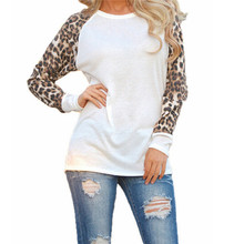 Fashion Blusas 2015 Women Ladies Spring Autumn Long Sleeve Leopard Loose Casual Tees Tops T Shirt 2 Colors Plus Size M-XXXL(China (Mainland))