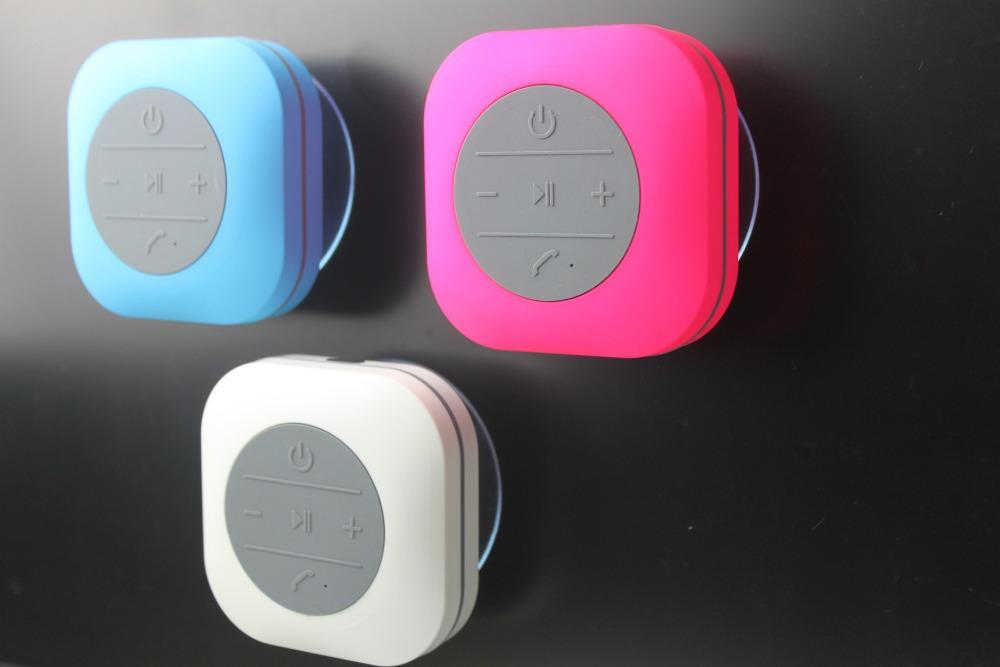 30pcs/lot Mini Waterproof Bluetooth Speaker for Shower Car Recieve Calls & Music Handsfree Speaker(China (Mainland))