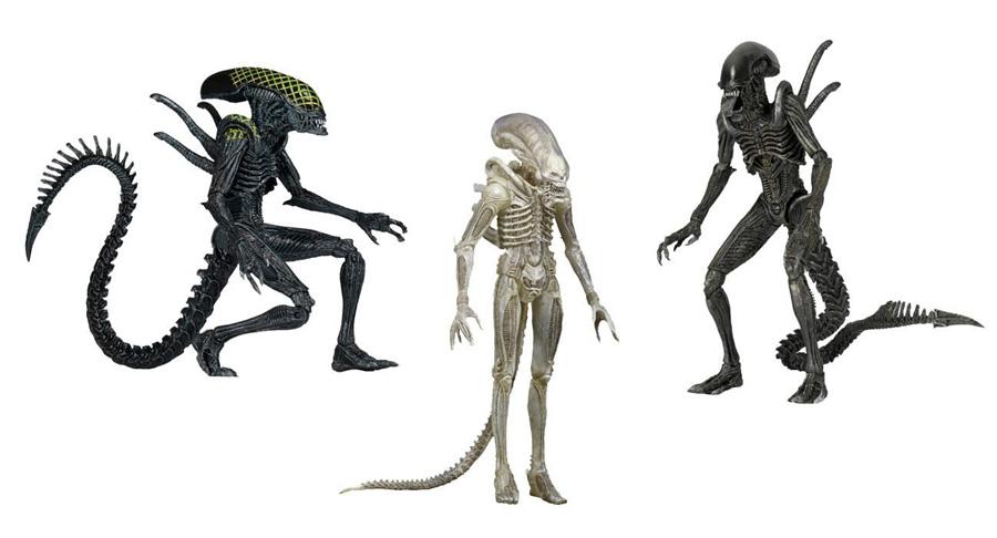 NECA Aliens Series 7 AVP Alien VS. Predator Warrior Grid Xenomorph Translucent Prototype Suit Big Chap 7 Action Figure <br><br>Aliexpress