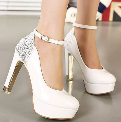Woman buckle straps women pumps black red white wedding shoe platforms extra high heeled 11cm bridal shoe PR764 on sales!<br><br>Aliexpress