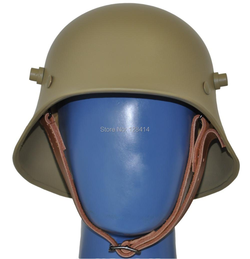 Free Shipping! Tan World War one German M18 Helmet/ Safety Helmet/ WW1 German helmet/ WWi German helmet/Grey German M18 Helmet/<br><br>Aliexpress