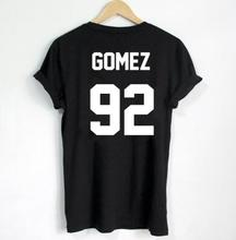 Buy T-shirt GOMEZ 92 t shirt women short sleeve t shirt clothing lover gift female summer style hipster tees tops cotton for $8.19 in AliExpress store