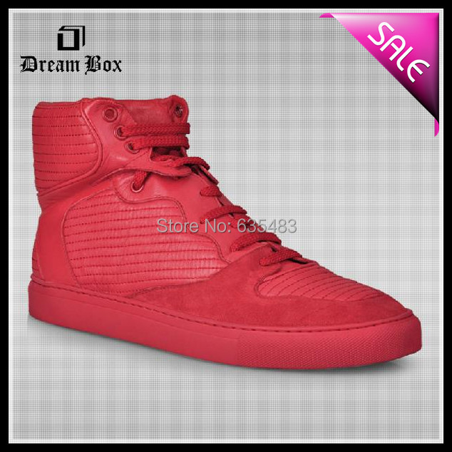 New Listed 2014 Famous Brand High-end custom Red Catwalk Shoes Basketball Sports Shoes Rubber Sneakers Man Running Shoes(China (Mainland))