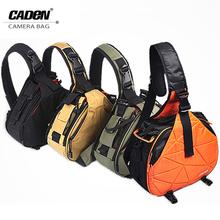 Caden Shoulder Camera Photo Bags Backpack Orange Black Khaki Digital Camera Case Sling Canvas Soft Bag For Canon Nikon New K1 K2(China (Mainland))