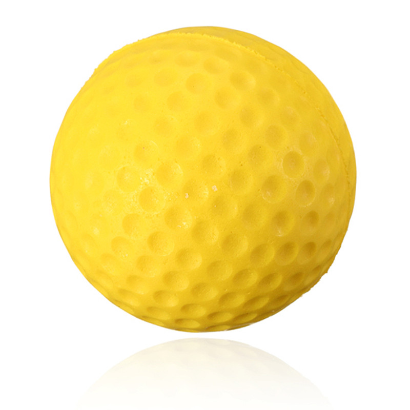Excellent quality Soft Indoor Outdoor Training Practice Golf Sports Elastic PU yellow Foam Ball beginner Training Aid(China (Mainland))