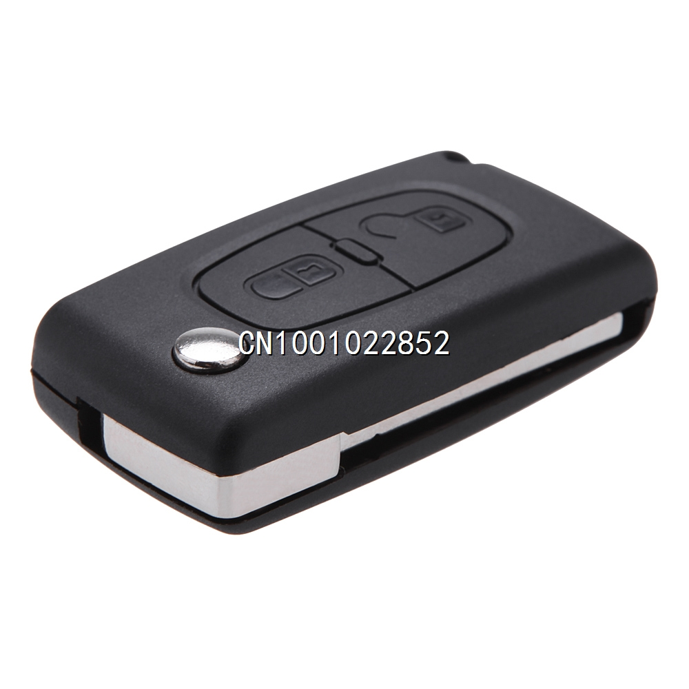 Uncut Blade Key Protection Cover Holder Flip Remote Key Case Shell for CITROEN C2 C3 C4 C5 C6 C8 2 Buttons Replacement(China (Mainland))