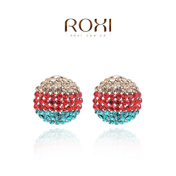 ROXI Free Shipping New Fashion Vintage Shamballa Earring Sparkling Rhinestone Ball Earrings Jewelry(China (Mainland))