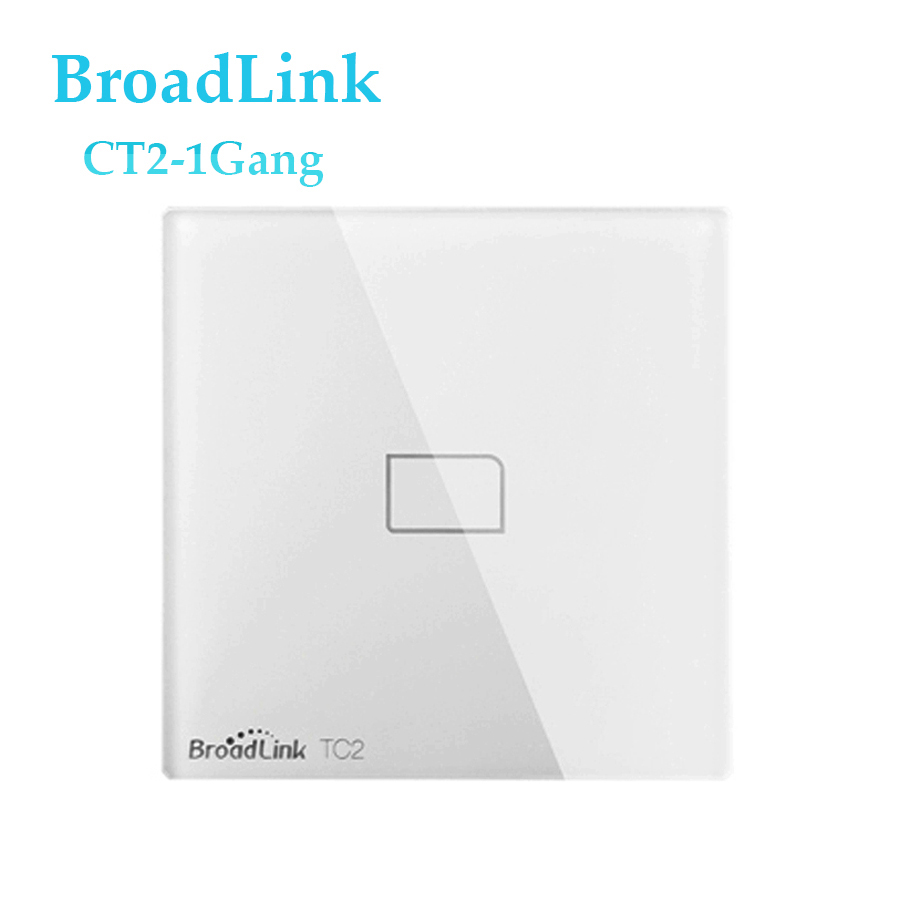 High Quality UK Standard Broadlink TC2 Wireless 1 Gang Wall Light Switch Wifi Remote Control Touch Switch Smart Home Automation