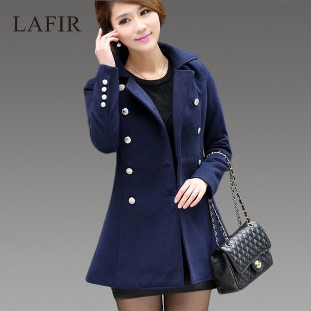 Высокое качество шерстяное пальто женщин 2015 корейский мода осень зима пальто женщин ...