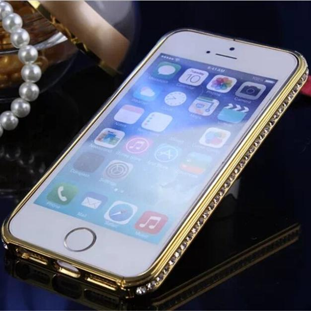 Aluminum Crystal Rhinestone Diamond Bling Case Cover Bumper For Apple iPhone 5 5S 5C 5G New Cell Phones cases Bumper Hot sale(China (Mainland))