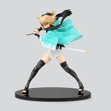Okita Souji Anime Fate Stay Night Sakura Saber Aquamarine 21cm PVC Action Figure Collectible Model Doll Toy Brinquedos Animation