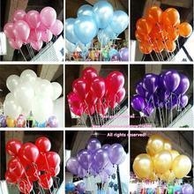 New 50pcs/lot 10inch 1.2g/pcs Latex Balloon Helium Thickening Pearl Celebration Party Wedding Birthday Decoration Balloon(China (Mainland))
