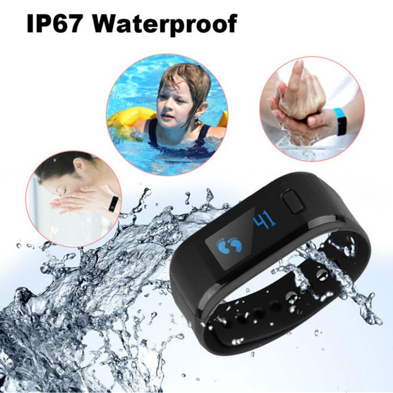 Bluetooth Sport Smart Watch 2016 New Moving Up Tracker Heart Rate Healthy Wrist Band IP67 Pedometer Sleep Monitor IOS Android(China (Mainland))